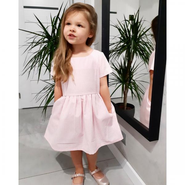 Wykrój na sukienkę dla dziewczynki Mela
