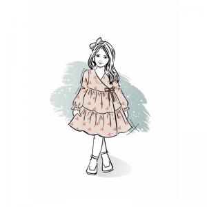 Wykrój na sukienkę dla dziewczynki Klara