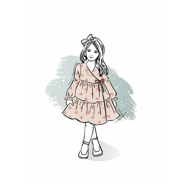 Wykrój nasukienkę dla dziewczynki Klara