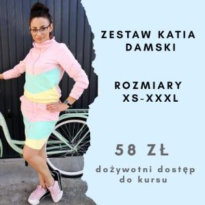 Szkoła szycia online zestaw damski Katia