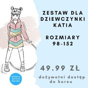 szkoła szycia online zestaw dla dziewczynki Katia