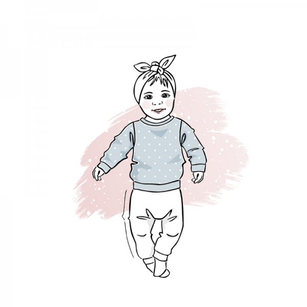 wykrój na bluzę newborn