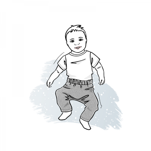 wykrój na spodnie newborn