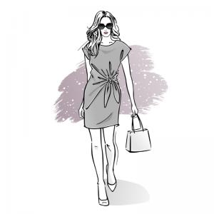 Wykrój online na sukienkę damską Amanda