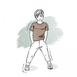 wykrój na t-shirt dziecięcy Adam