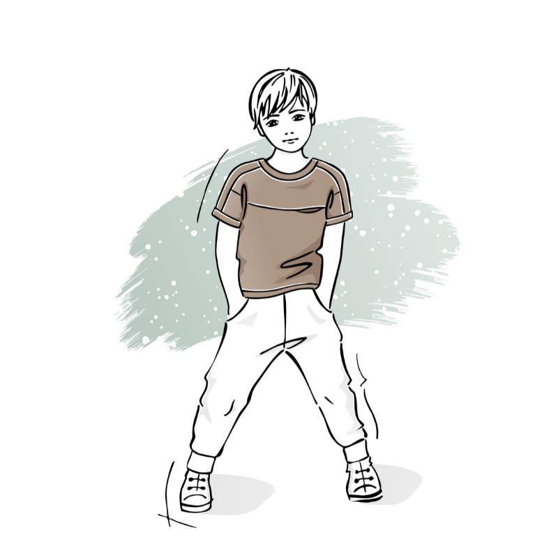 wykrój nat-shirt dziecięcy Adam
