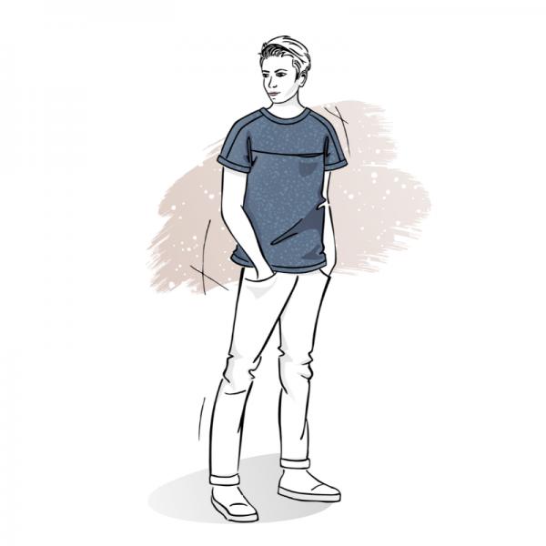 wykrój na t-shirt męski Adam