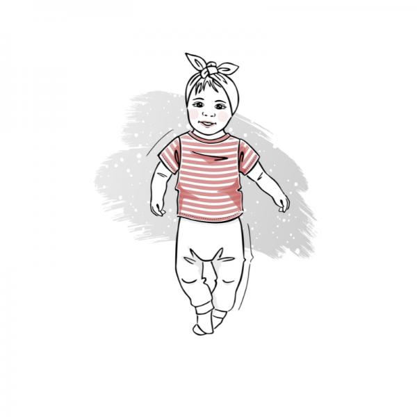 wykrój na t-shirt newborn