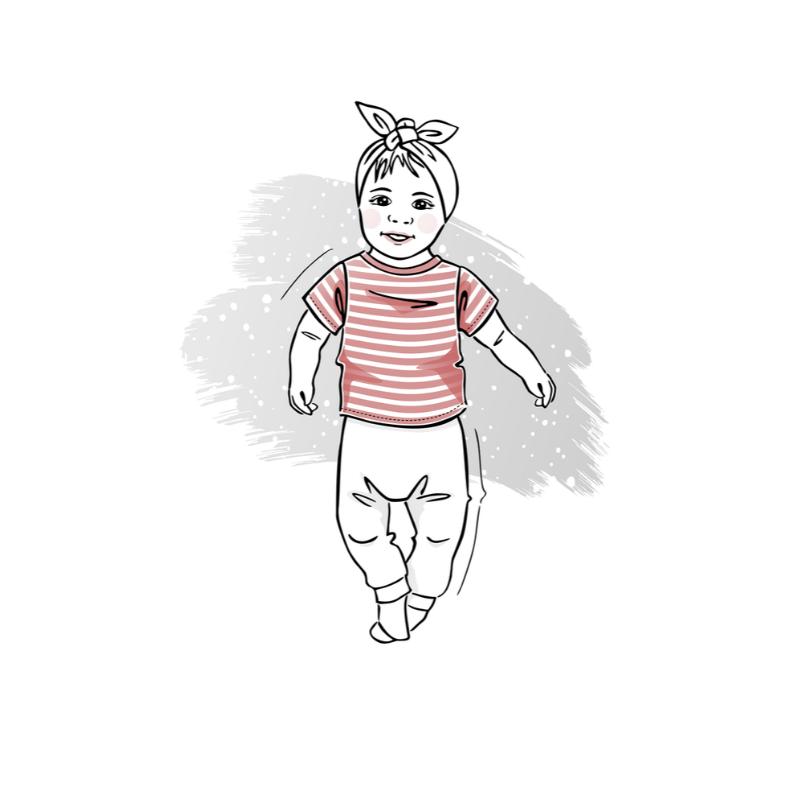 wykrój nat-shirt newborn
