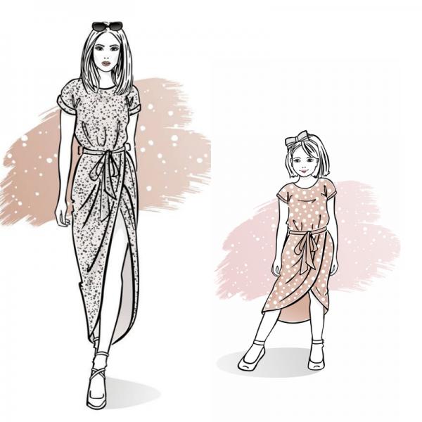 zestaw wykrojów na sukienkę Carmen