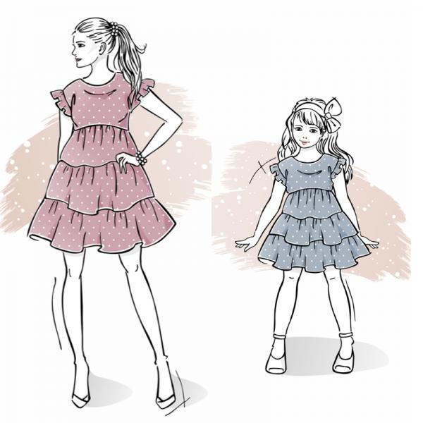 zestaw wykrojów na sukienkę Larysa