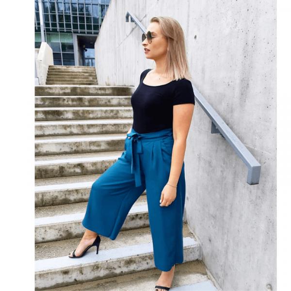 Wykrój na spodnie damskie kuloty Chiara