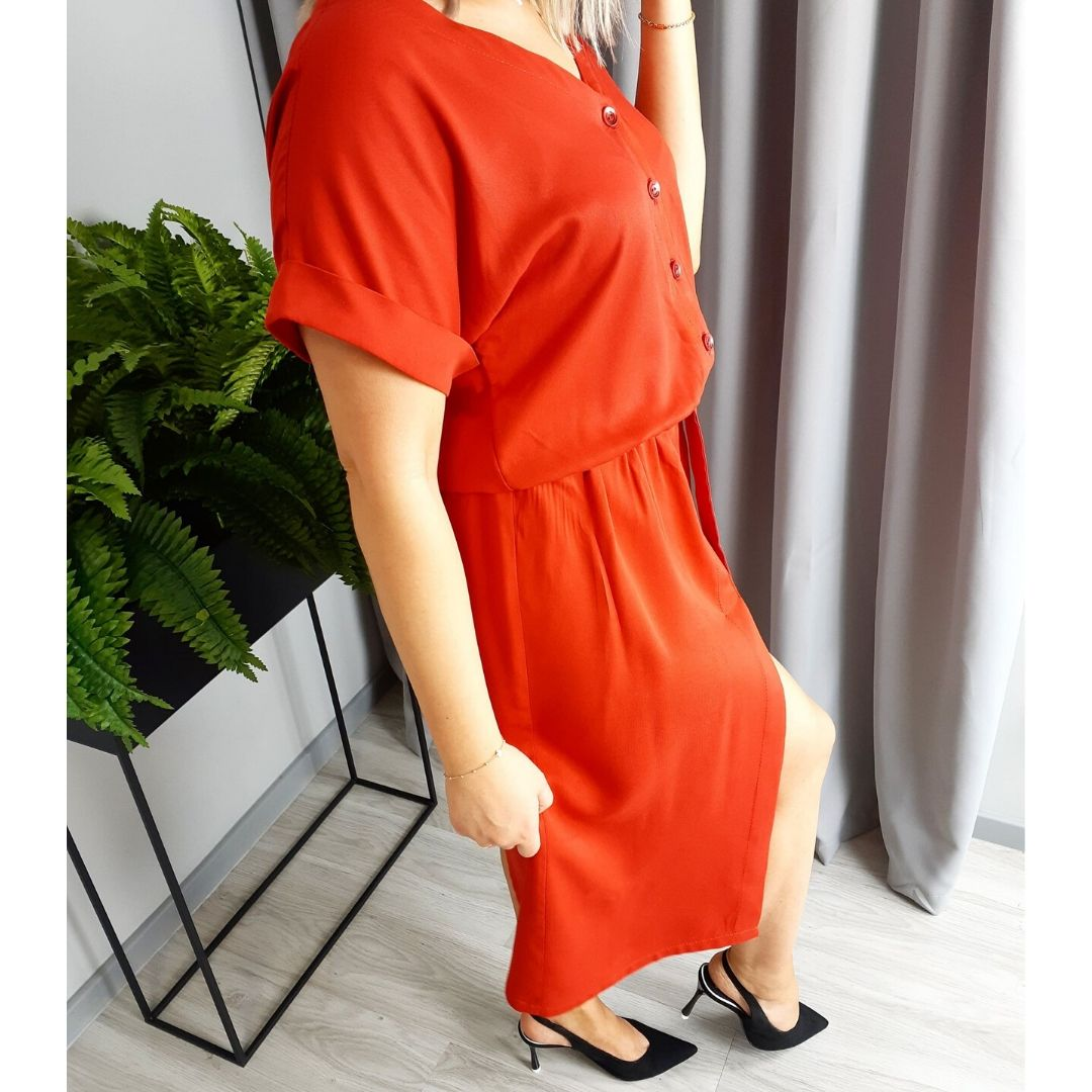 szkoła szycia online sukienka kopertowa damska