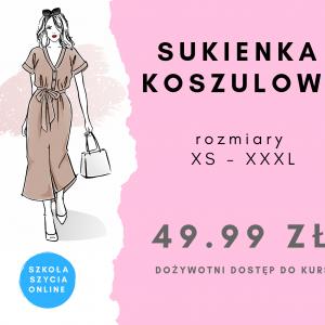Szkoła szycia online sukienka koszulowa