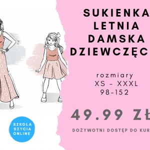 szkoła szycia online sukienka letnia damska dziewczęca