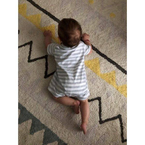 wykrój na rampersy newborn