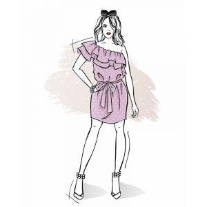 wykrój na sukienkę damską Chloe