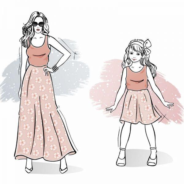 wykrój na sukienkę letnią damską i dziewczęcą Celine