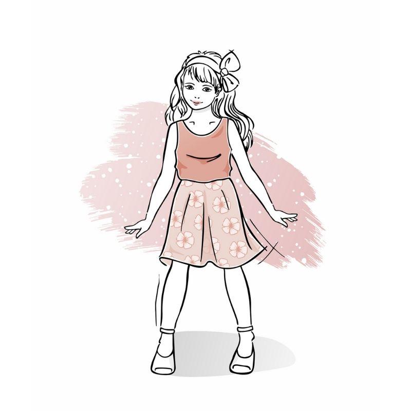 wykrój nasukienkę letnią dziewczęcą Celine