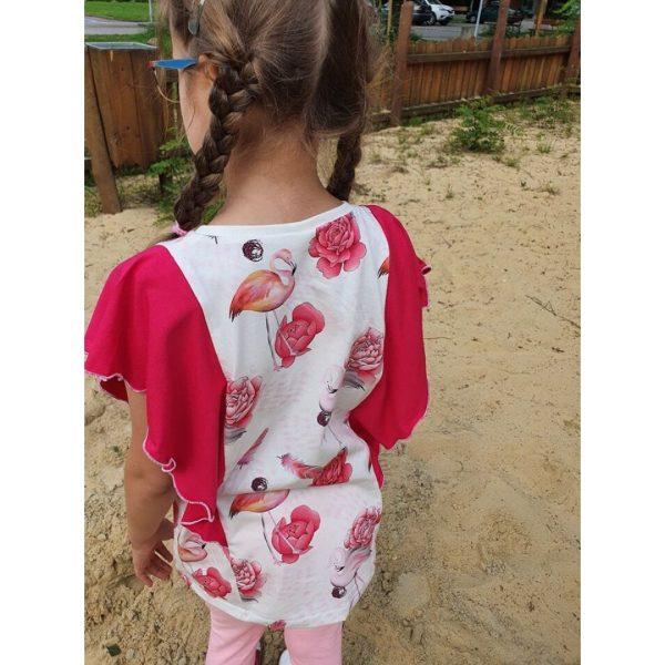 wykrój na bluzkę dziewczęcą Iga