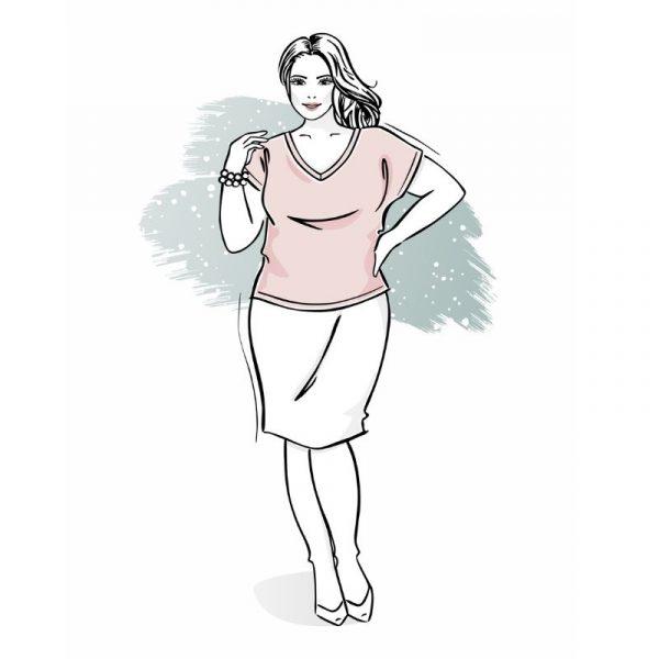 wykrój na t-shirt damski irys