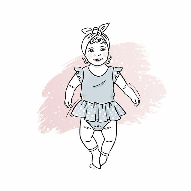 wykrój nabody sukienkowe newborn