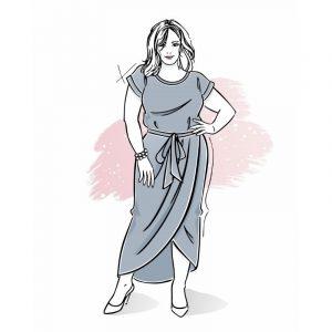 wykrój na sukienkę damską Carmen