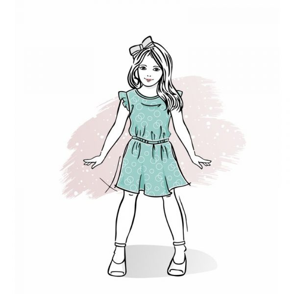 Wykrój na sukienkę dla dziewczynki Balbina