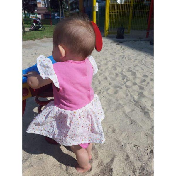 wykrój na body sukienkowe newborn