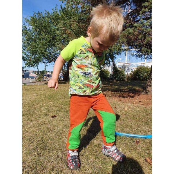 wykrój na spodnie dla chłopca i dziewczynki baggy Rumba