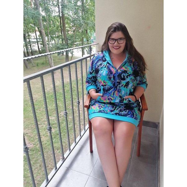 wykrój na tunikę damską plus size Raya