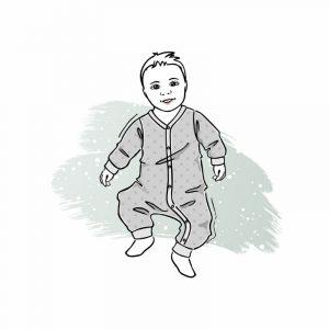 wykrój online na pajac dla chłopca i dziewczynki newborn