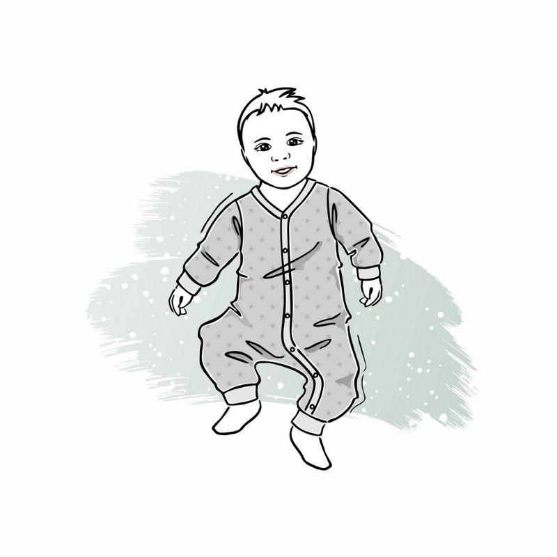 wykrój online napajac dla chłopca idziewczynki newborn
