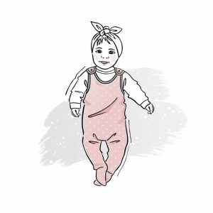 wykrój na śpiochy dla chłopca lub dziewczynki newborn