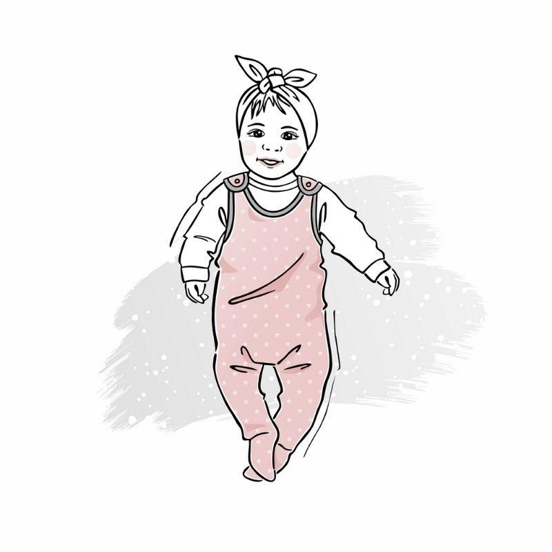 wykrój naśpiochy dla chłopca lub dziewczynki newborn