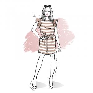Wykrój na sukienkę damską Buenos Aires