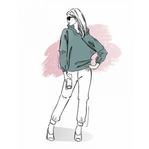 wykrój na bluzę damską Werka