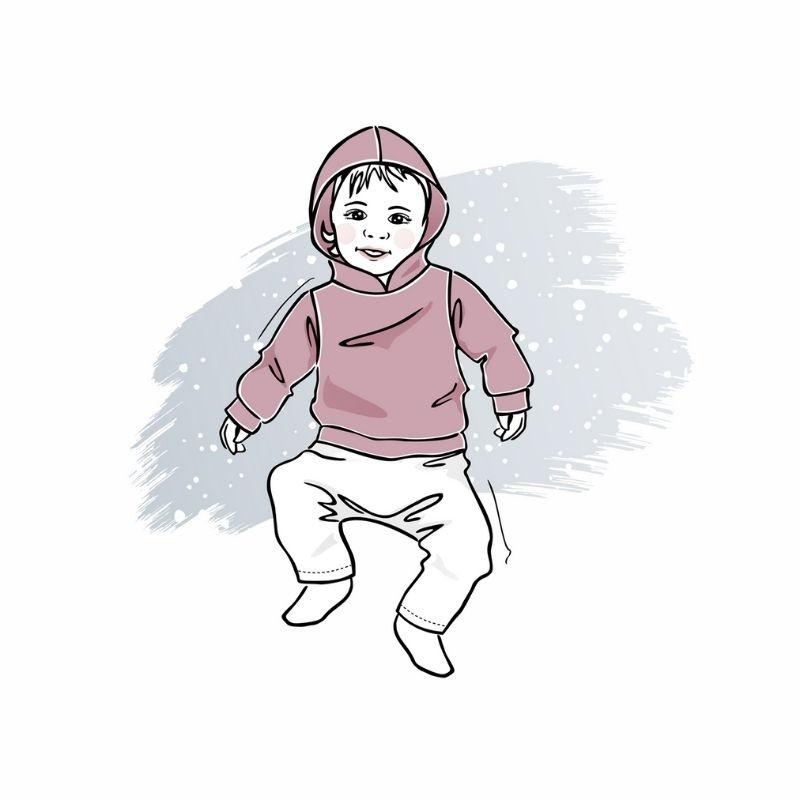 wykrój nabluzę zkapturem newborn