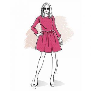 wykrój na sukienkę damską Vivien