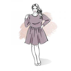 wykrój na sukienkę damską plus size Vivien