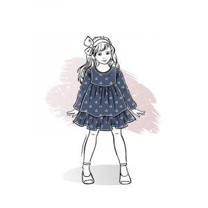 wykrój na sukienkę dla dziewczynki Pola