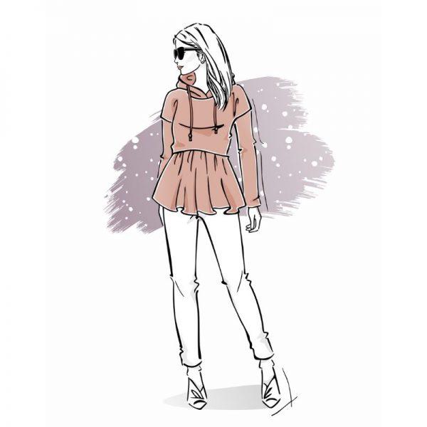 wykrój na bluzę damską Olga online