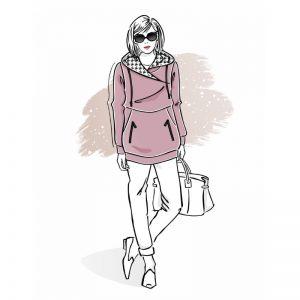wykrój na bluzę damską panama szkoła szycia online