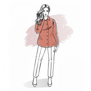 wykrój na koszulę damską style szkoła szycia online