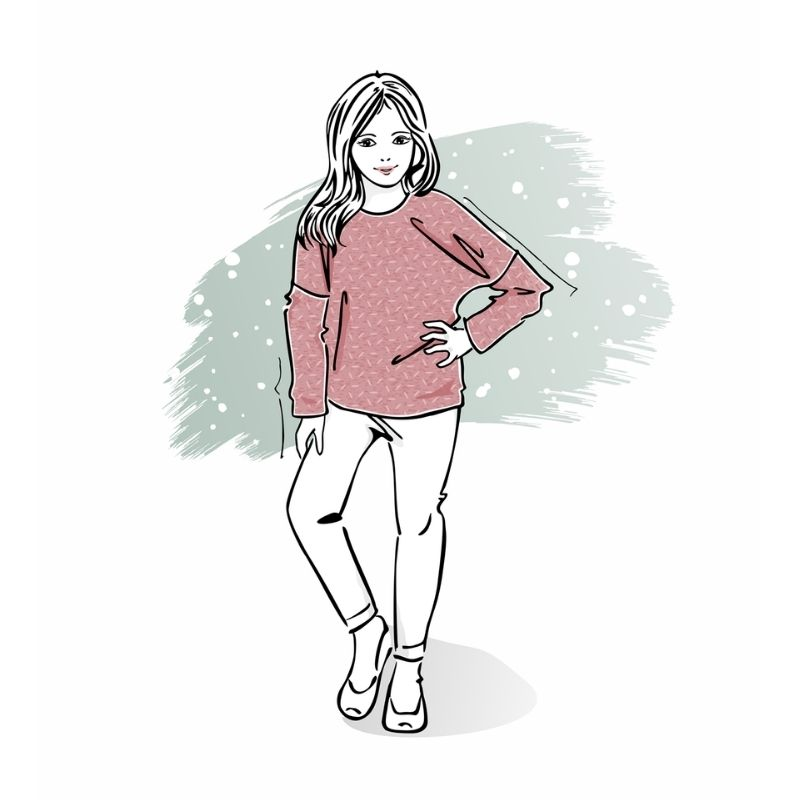 wykrój nalong pink dla dziewczynki