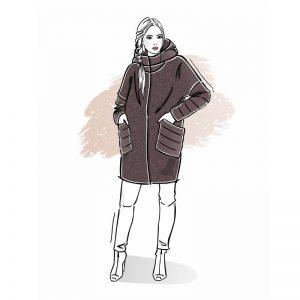 wykrój na płaszcz damski Olimpia