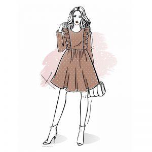 wykrój na sukienkę damską Sonia