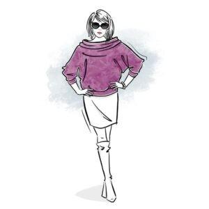 wykrój na bluzkę damską Gemma online