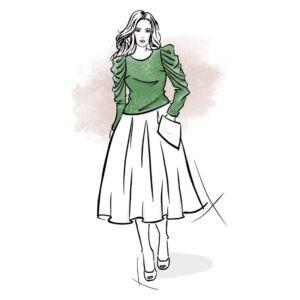 wykrój na bluzkę damską Glow online