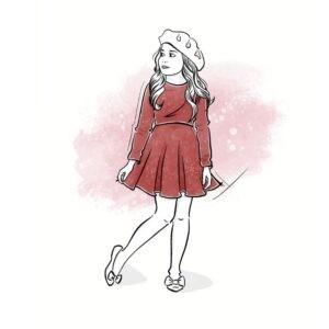 wykrój na sukienkę dla dziewczynki Gracja online